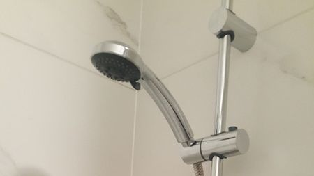 A clients clean shower
